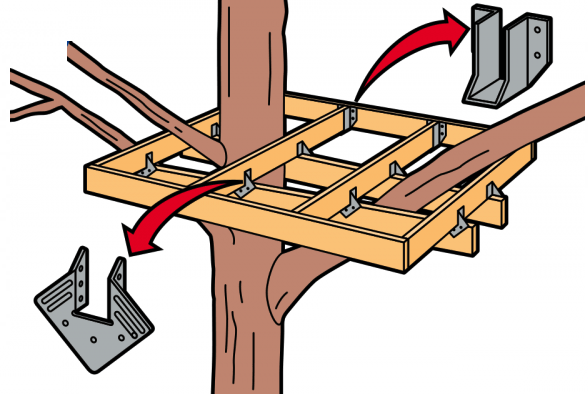 casetta sull'albero prefabbricata