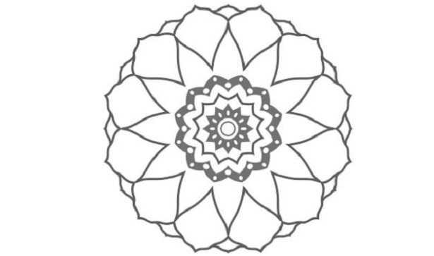 Corolla del fiore da colorare