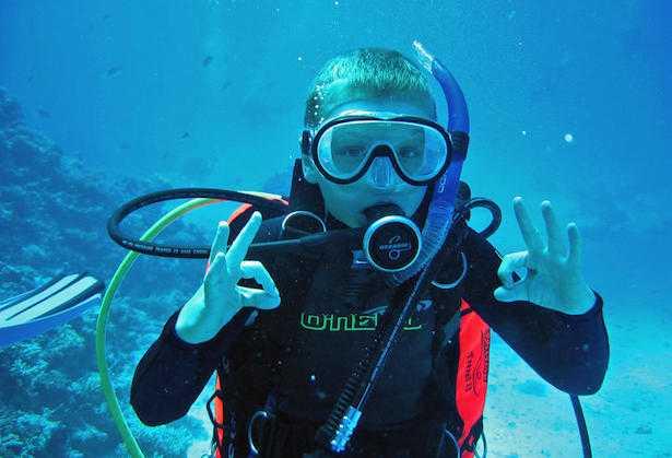 Come fare immersioni con bambini