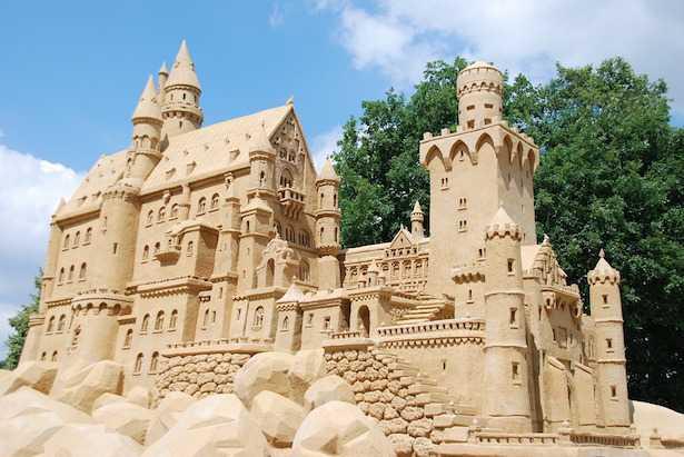 castelli di sabbia come fare