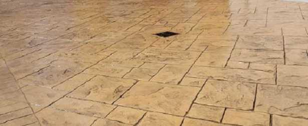 Cemento stampato per pavimenti esterni