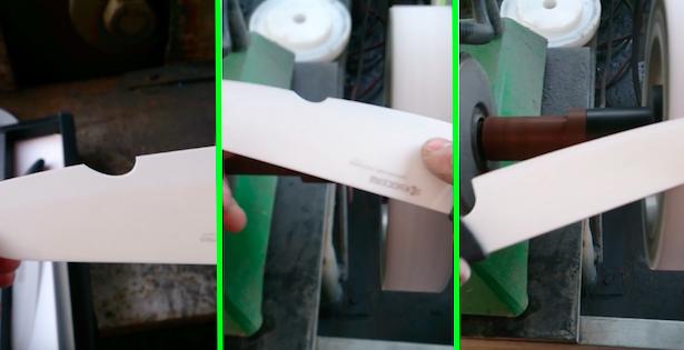 affilare coltello in ceramica