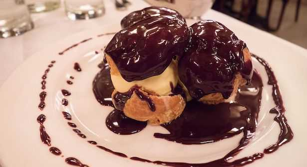 glassa profiteroles