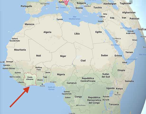 dove si trova la costa d avorio