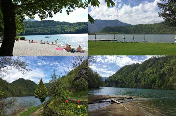 Lago di Levico spiagge