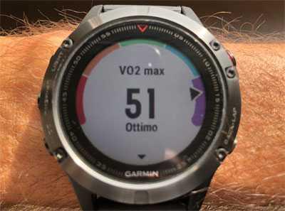 VO2max su Garmin