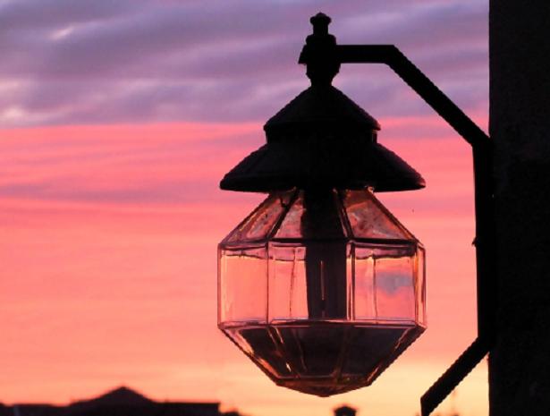 Lampione al tramonto