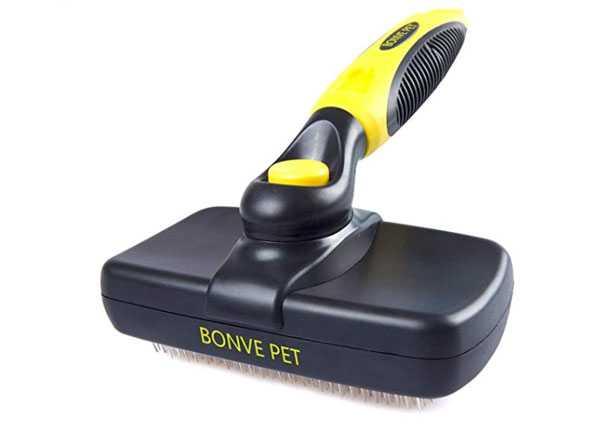 spazzola per cani con manico