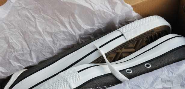 scarpe in una scatola
