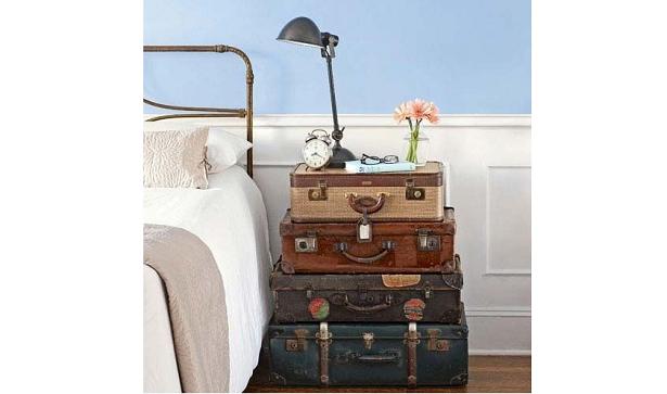 comodino di valigie