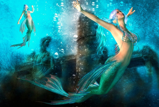 animali mitologici sirena