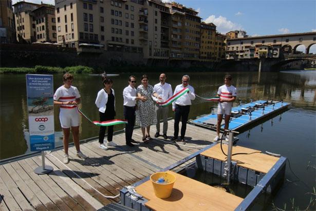 inaugurazione seabin Arno