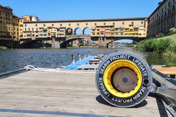 Seabin Ponte Vecchio, fiume Arno