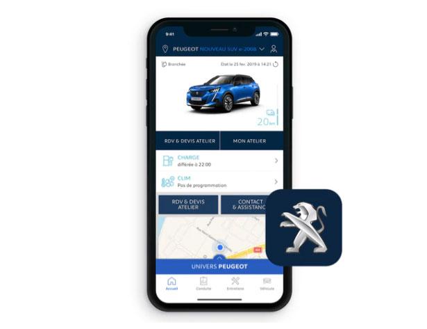 app Peugeot e2008