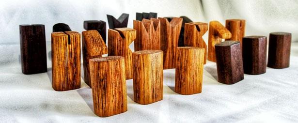 scacchi artigianali in legno