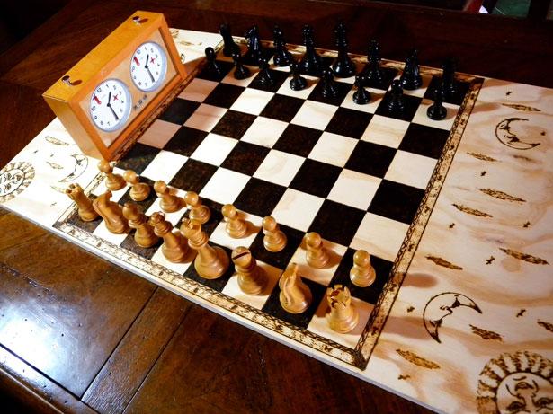 scacchiera artigianale