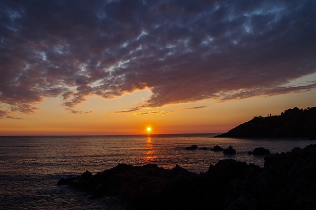 tramonto in Calabria