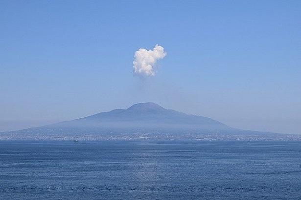 Vesuvio con pennacchio