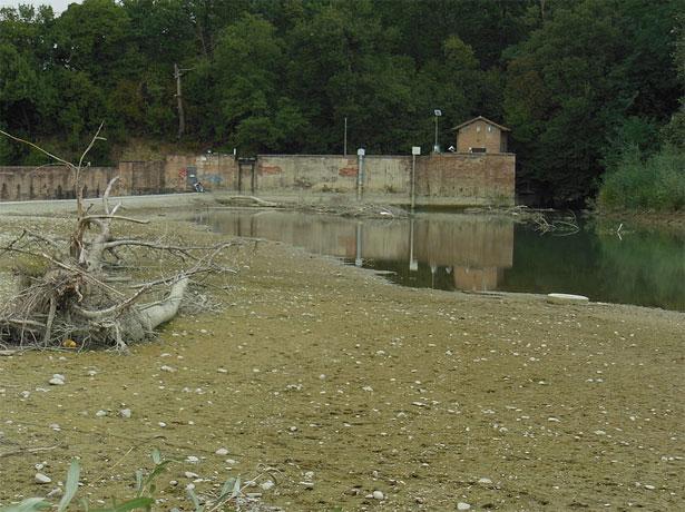 lentificazione fiume in secca
